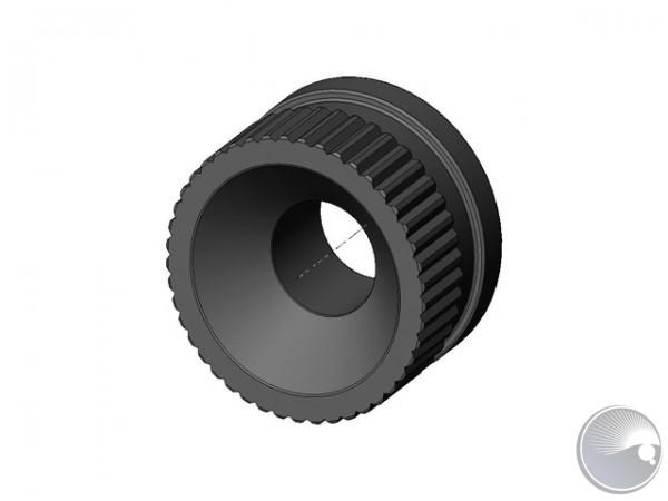 M4 nut knurled high black