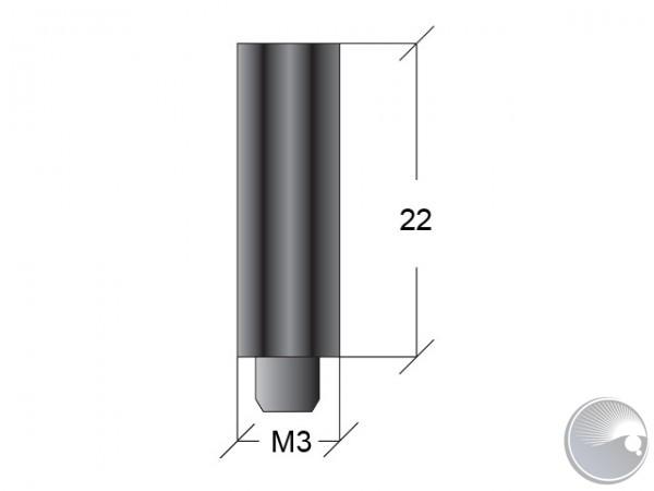 M3x22 stand off m6/f7 black