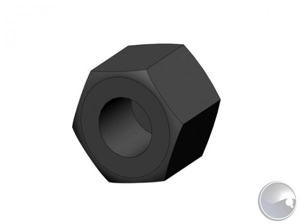 M3 nut hex cap low type black