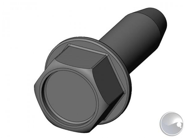 Martin M5x16 hex cap tapt black