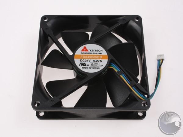 Fan 24V DC, 92x92x25mm Axial, 4-Wire