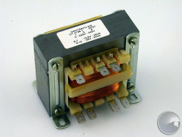 Transformator 0-225-240V 10.5V/25,25V