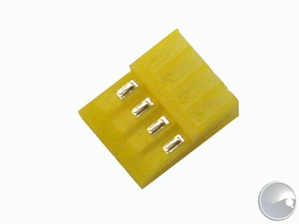 Plug female angle, wire, 4 pol