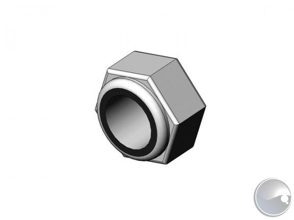 M8 Hex lock nut PA-insert