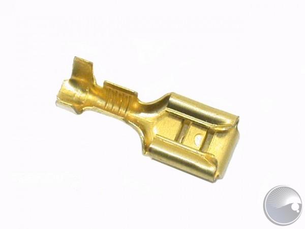 Martin Cable plug 6.3mm female double uninsulta