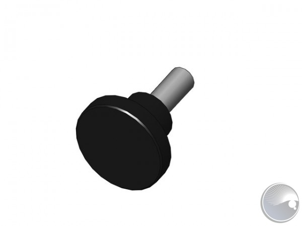 M8x20 Finger screw Black