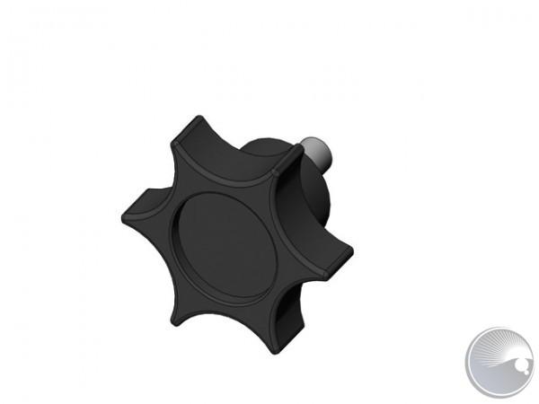 M4x10/7 finger screw PA/shiny