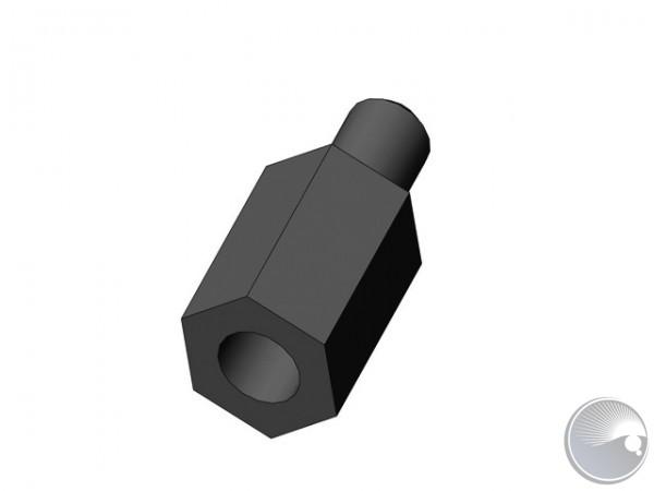 M4x10 stand off m8/f6 black