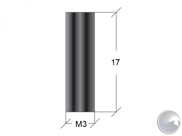 M3x17 stand off f/f black