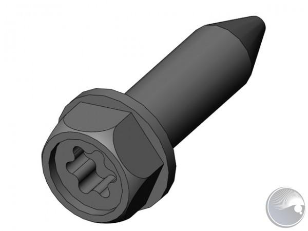 ST5.5x19 torx/hex black