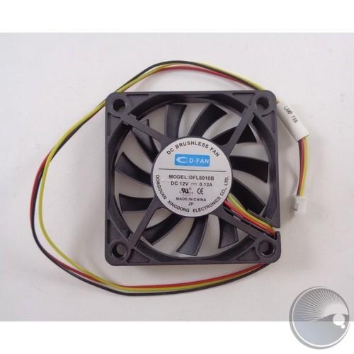 12V 0.13A fan DFL6010B 3P - 3 wire: b/r/y (BOM#181)
