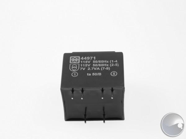 Transformator 2x115V/7V 2.7VA PCB