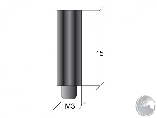 M3x15 stand off m6/f7 black