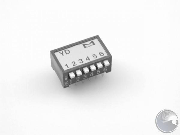 Martin DIP switch, Piano Type, 6-bit D, YD-06Z